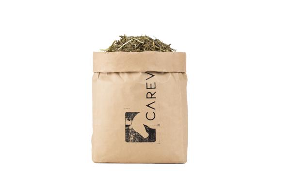 Getreidefreies Müsli für Pferde im Carevallo Papiersack